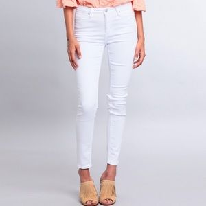 Just Black High Waisted White Skinny Jeans